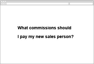What commissions should I pay my new sales person?