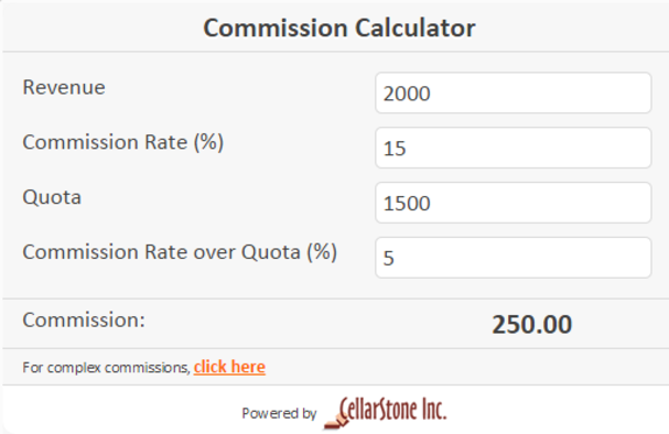 Free S Commission Calculator